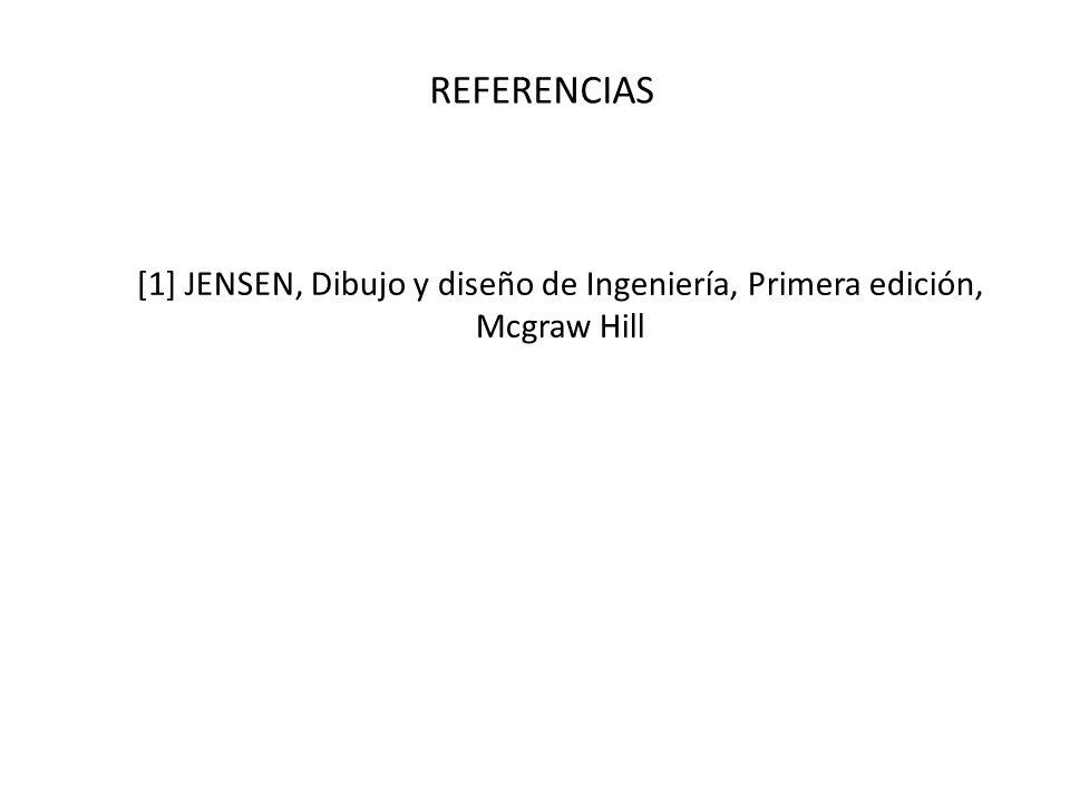 REFERENCIAS [1] JENSEN, Dibujo y diseño de Ingeniería, Primera edición, Mcgraw Hill